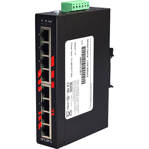 Endüstriyel Ethernet Switch Yönetilemez 8 port Gigabit